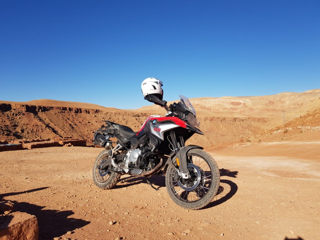 F850GS with Mitas tires