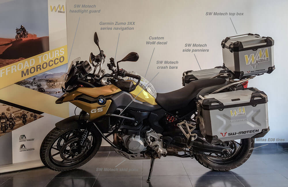 rent BMW F750GS motorbike in morocco