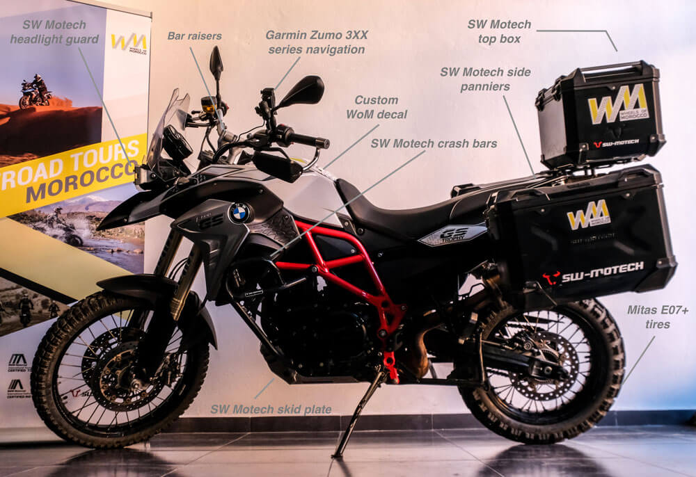 rent BMW F800GS motorcycle in morocco
