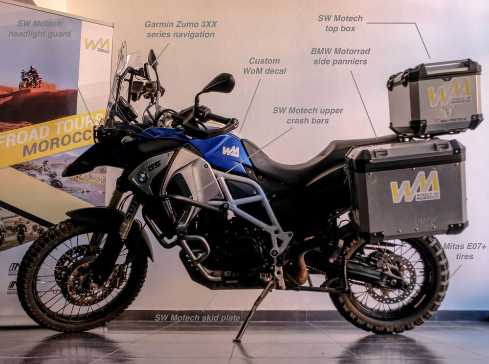 rent BMW F800GSA motorcycle in morocco
