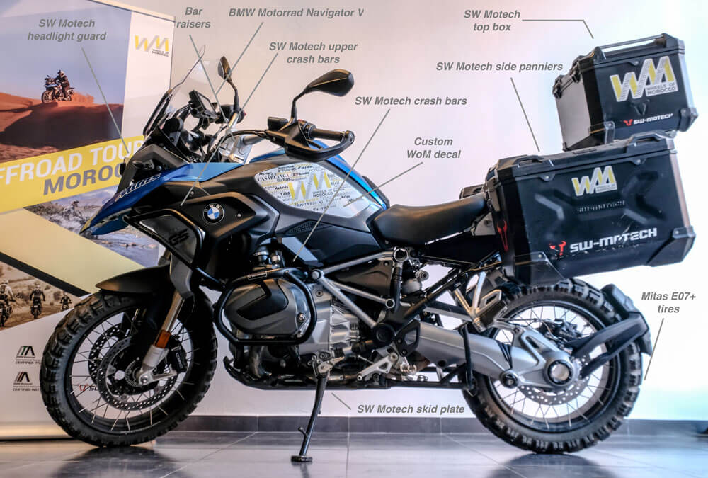 rent BMW R1250GS for your adventure motorcycle tours morocco from wheels of Morocco